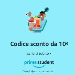 Amazon Prime Student: codice sconto da 10 EURO per i nuovi iscritti